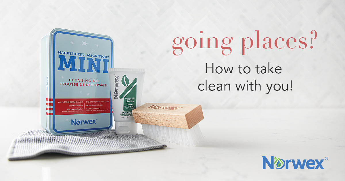 Going Places? How to take clean with you!